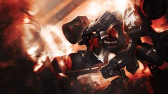 Video games wall league of legends cho gath wallpaper