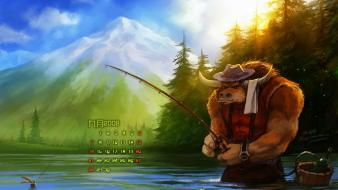 World of warcraft tauren fantasy art fishing wallpaper