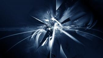 Abstract 3d render blue background kinetic Wallpaper