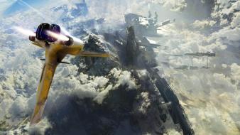 Aircraft futuristic fantasy art science fiction upscaled wallpaper