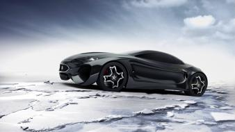 Black cars jaguar concept art wallpaper