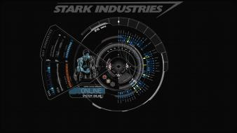Blue iron man stark industries wallpaper