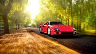 Cars ferrari roads vehicles f40 Wallpaper