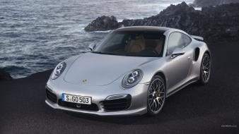 Cars rocks porsche 911 turbo s 2014 sea Wallpaper