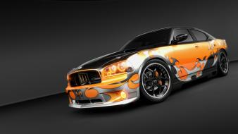 Cars tribal dodge charger races rendering wallpaper