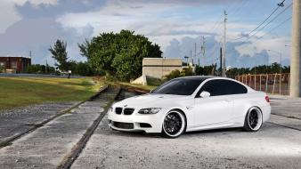 Cars vehicles tuning white tuned bmw m3 e92 Wallpaper