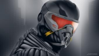 Crysis alcatraz nanosuit game wallpaper