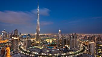 Dubai skyscrapers metropolis middle east burj khalifa wallpaper