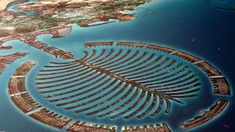 Dubai united arab emirates palm island sea wallpaper