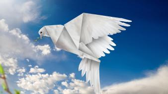 Easter photo manipulation dove pidgey pidgeotto skies wallpaper