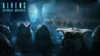 Fiction parasite nest aliens pc colonial marines wallpaper