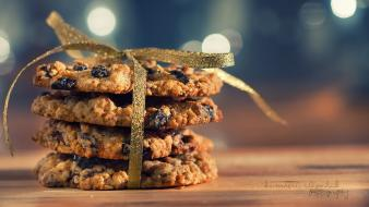 Food cookies ribbons bokeh wallpaper