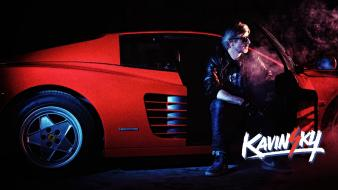 French ferrari testarossa shades kavinsky electronic launchlook Wallpaper