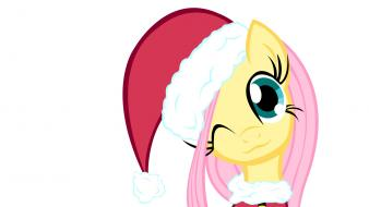 Friendship is magic santa claus hat ponies wallpaper