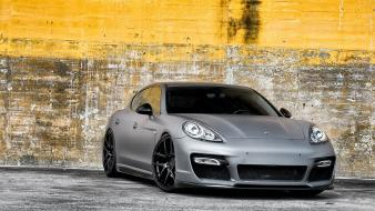 Gray porsche panamera matte Wallpaper