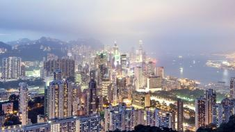 Hong kong city skyline cities thomas birke wallpaper