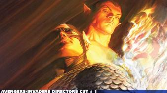 Human torch alex ross namor the submariner wallpaper