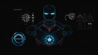 Iron man shield interface stark industries wallpaper