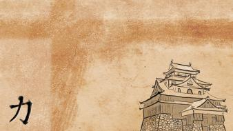 Japan minimalistic artwork himeji wallpaper
