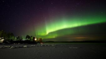 Landscapes night aurora borealis wallpaper