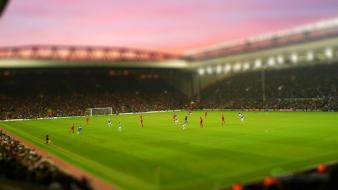 Liverpool stadium anfield everton fc football pitch Wallpaper
