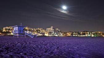 Los angeles night sky beach wallpaper