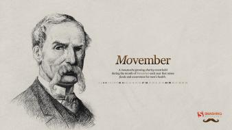 Men november calendar moustache smashing magazine portraits Wallpaper
