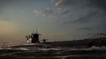 Military submarine wallpaper