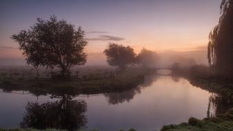 Mist united kingdom hdr photography rivers reflections wallpaper