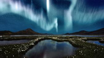Nature lights aurora borealis skyscapes skies wallpaper