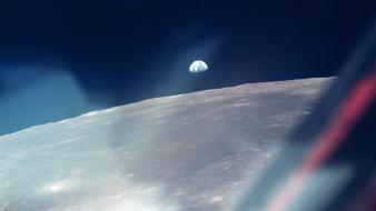 Outer space moon earth eagles apollo 11 Wallpaper