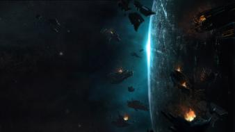 Planets halo concept art science fiction 4 wallpaper