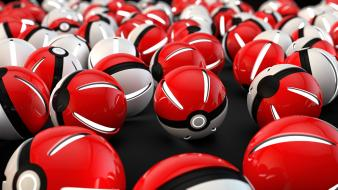 Shows clean pokeball game graphics show art wallpaper