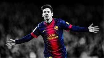Soccer barcelona lionel messi hdr photography wallpaper
