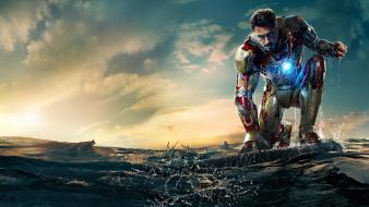 Stark robert downey jr iron man 3 Wallpaper