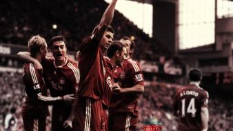 Steven gerrard xabi alonso football stars anfield wallpaper