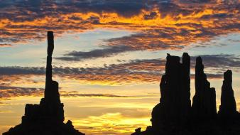 Sunrise nature rock arizona monument valley totem pole wallpaper