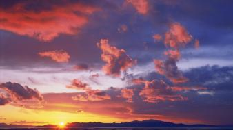 Sunset nature salt utah great wallpaper