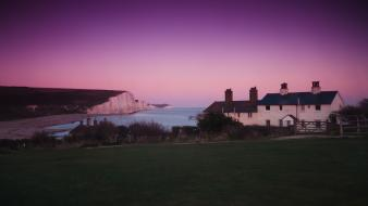 United kingdom cottage seven sisters country park wallpaper