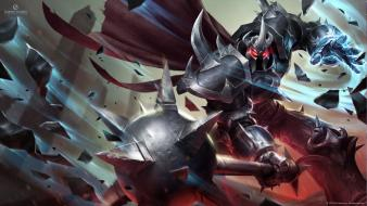 Video games league of legends weapons artwork mordekaiser wallpaper