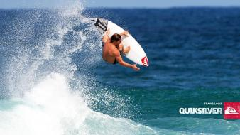 Waves surfing surfers quiksilver wallpaper