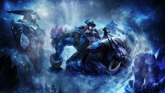 Winter league of legends fantasy art artwork wallpaper