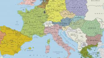 World country europe maps wallpaper