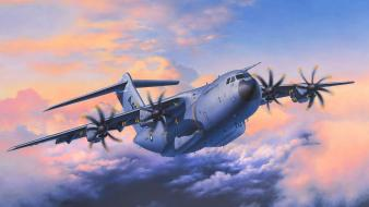 Aircraft military airbus artwork transports a400m wallpaper