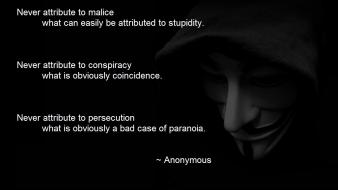 Anonymous quotes masks hood Wallpaper
