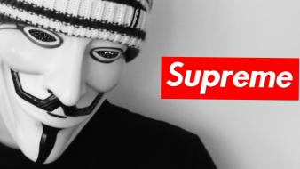 Anonymous supreme dark watch wallpaper