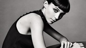 Black and white actress rooney mara wallpaper