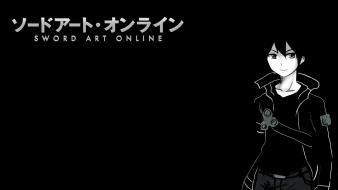 Black background sword art online kirigaya kazuto wallpaper
