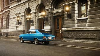 Blue cars romania bucuresti old opel kadett wallpaper