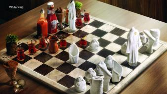 Chess funny digital art 3d board Wallpaper